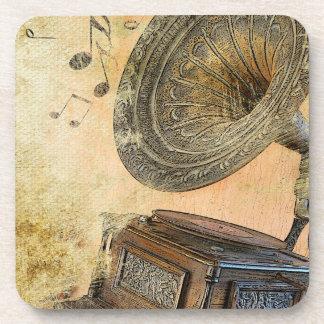 Gramófono del vintage posavaso