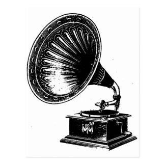 Gramófono del vintage postales