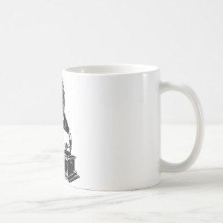 Gramófono del vintage taza básica blanca