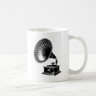 Gramófono del vintage taza