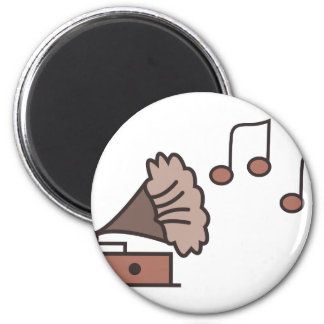 Gramophone 2 Inch Round Magnet