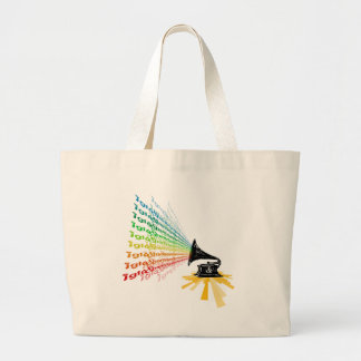 """Gramophone"" by Nick winner 06.22.09 Large Tote Bag"