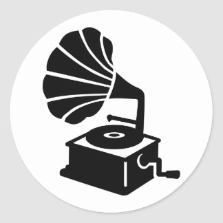 Gramophone Classic Round Sticker
