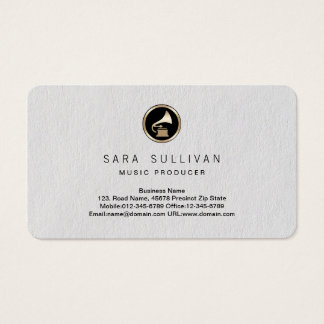 Gramophone Music Producer Premium Business Card