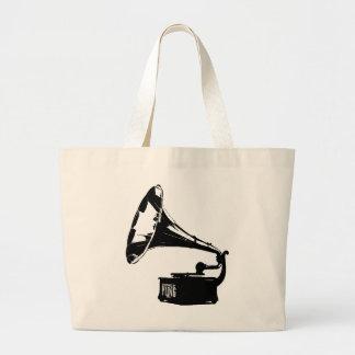 Gramophone Player Large Tote Bag
