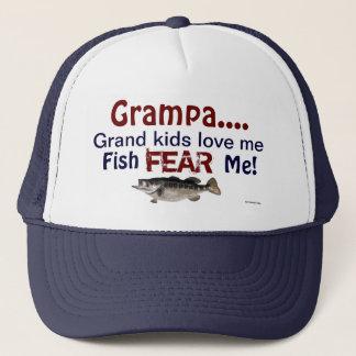 Grampa...Grand Kids Love Me Fish Fear Me Hat