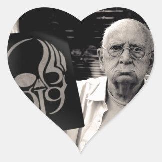 Grampa gruñón pegatinas corazon personalizadas