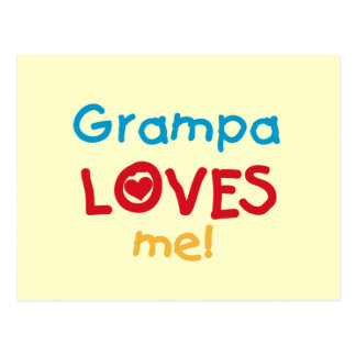 Grampa Loves Me T-shirts and Gifts Postcard