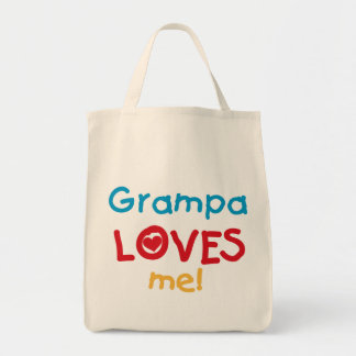 Grampa me ama las camisetas y los regalos bolsas