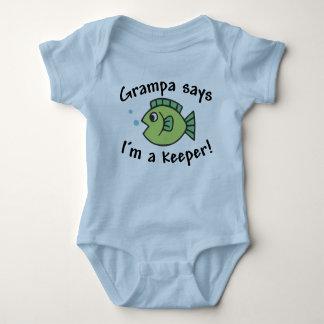 Grampa Says I'm a Keeper! Baby Bodysuit