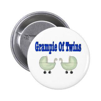 Grampie of TWINS Pinback Button