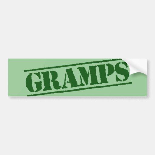 Gramps Car Bumper Sticker
