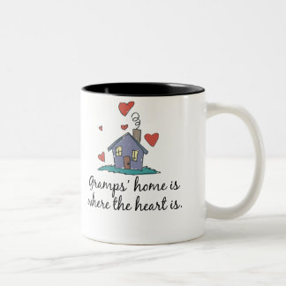 Gramps' Home is Where the Heart is Two-Tone Coffee Mug