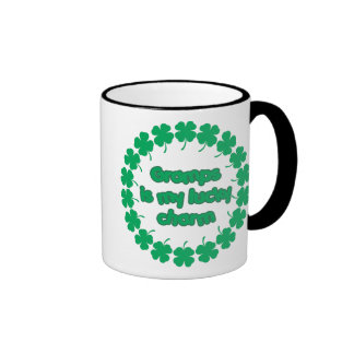 Gramps is My Lucky Charm Ringer Coffee Mug