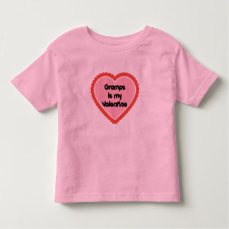 Gramps is My Valentine Toddler T-shirt