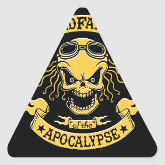 Gramps of the Apocalypse Triangle Sticker