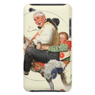 Gramps on Rocking Horse iPod Case-Mate Cases