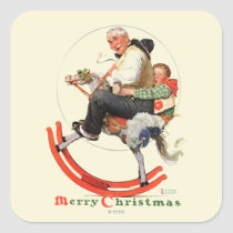 Gramps on Rocking Horse Square Sticker