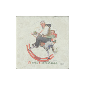 Gramps on Rocking Horse Stone Magnet