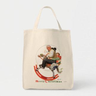 Gramps on Rocking Horse Tote Bag