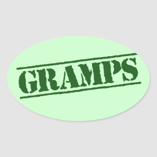 Gramps Oval Sticker