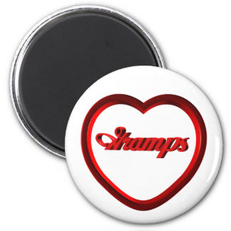 Gramps Red Heart Frame 2 Inch Round Magnet