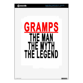 Gramps The Man The Myth The Legend Tshirt.png Decals For iPad 3