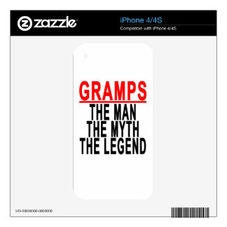 Gramps The Man The Myth The Legend Tshirt.png Skins For iPhone 4S