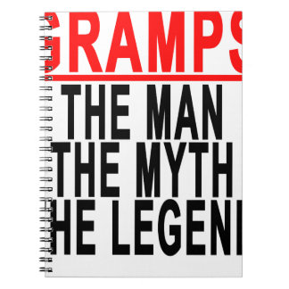 Gramps The Man The Myth The Legend Tshirt.png Spiral Notebook