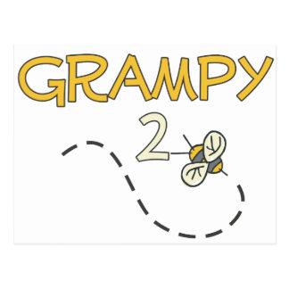 Grampy a ser (abeja) tarjeta postal