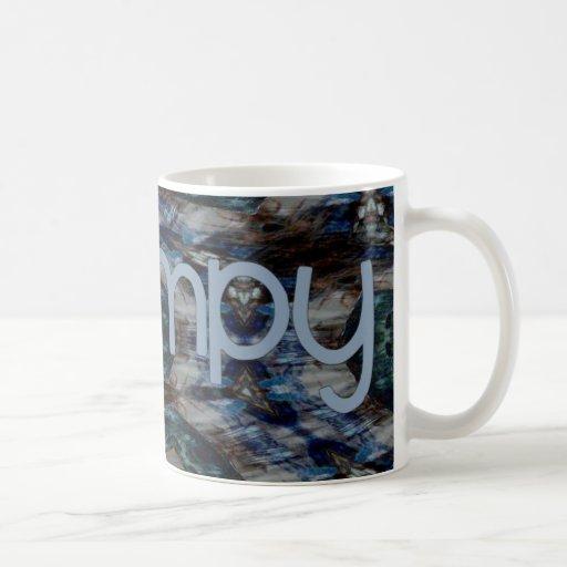 Grampy abstracto azul taza de café