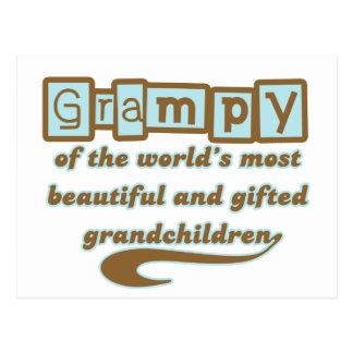 Grampy de nietos dotados postales
