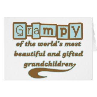 Grampy de nietos dotados tarjeta de felicitación