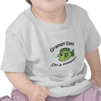 Grampy dice que soy encargado camiseta