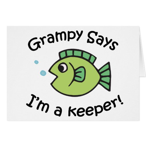 Grampy dice que soy encargado tarjeta de felicitación