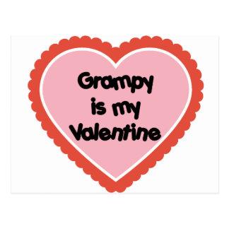 Grampy es mi tarjeta del día de San Valentín Postal