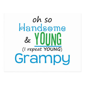 Grampy hermoso y joven postal