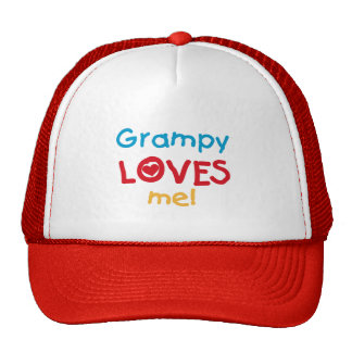 Grampy Loves Me T-shirts and Gifts Trucker Hat