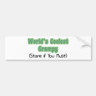 Grampy más fresco del mundo etiqueta de parachoque