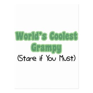 Grampy más fresco del mundo tarjetas postales