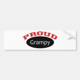 Grampy orgulloso pegatina de parachoque