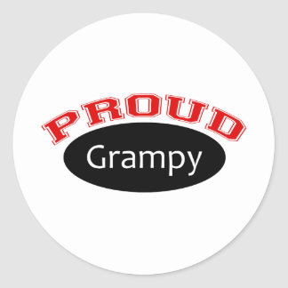 Grampy orgulloso pegatina redonda
