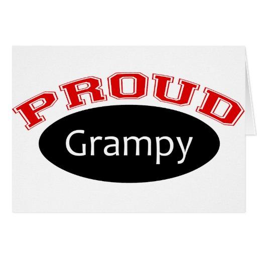 Grampy orgulloso tarjeta de felicitación