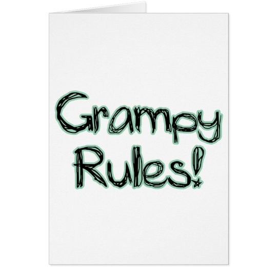 Grampy Rules Card