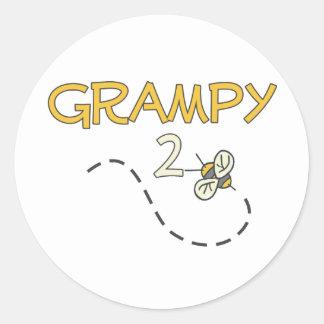 Grampy to Be (Bee) Classic Round Sticker