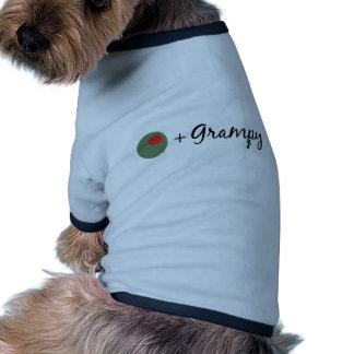 Grampy verde oliva camiseta de mascota