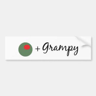 Grampy verde oliva pegatina de parachoque