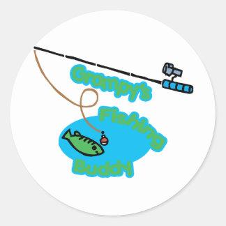 Grampy's Fishing Buddy Classic Round Sticker
