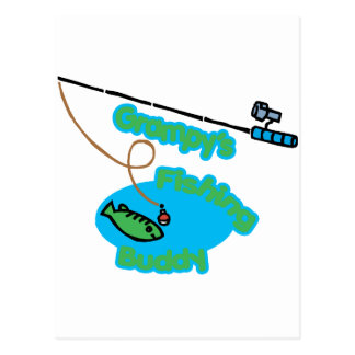 Grampy's Fishing Buddy Postcard