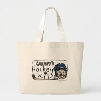Grampy's Hockey Kid Canvas Bags